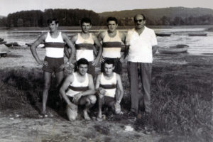 anni '60 - in alto da sinistra: Cappello Franco, Cortese Giannino, Barbati Aldo, all Crenna Bruno in basso da sinistra : Badinotti Carlo, Barbieri Amos